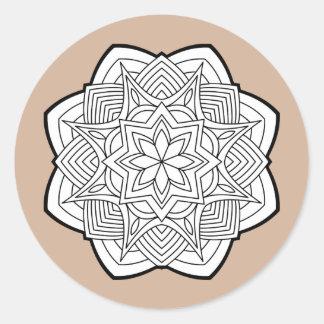 Adesivo Redondo Mandalas