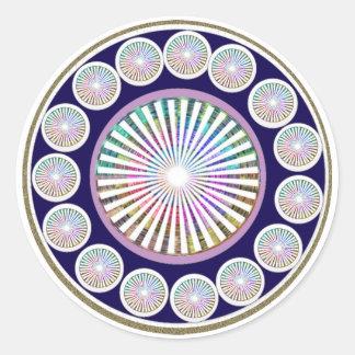 Adesivo Redondo Mantra da beleza - coleção de ART101 Chakra