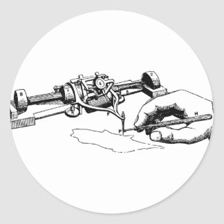 Adesivo Redondo Mão que repara o dispositivo velho