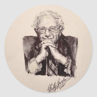 Adesivo Redondo Máquinas de lixar de Bernie por Billy Jackson