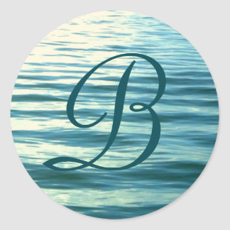 Adesivo Redondo Mar enluarada Monogrammed
