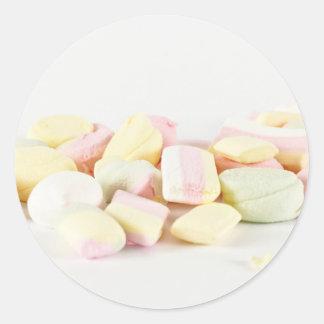 Adesivo Redondo Marshmallows dos doces