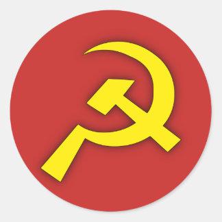 Adesivo Redondo Martelo & foice soviéticos