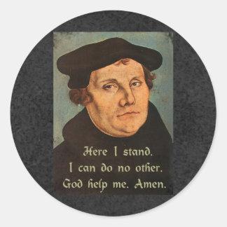 Adesivo Redondo Martin Luther aqui eu estou a cotação
