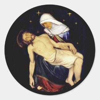 Adesivo Redondo Mary que guardara Jesus