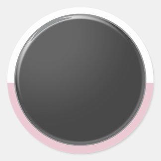 Adesivo Redondo Máscaras artísticas da cor: Ferramentas de