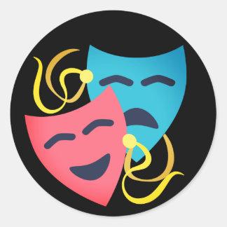 Adesivo Redondo Máscaras emocionais
