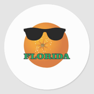 Adesivo Redondo máscaras verdes de Florida
