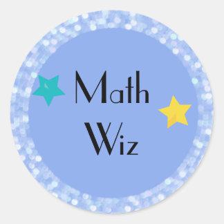 Adesivo Redondo Matemática Wiz com estrelas