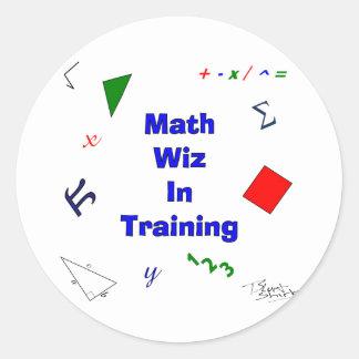 Adesivo Redondo Matemática Wiz no treinamento