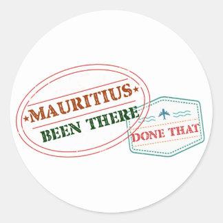 Adesivo Redondo Maurícia feito lá isso