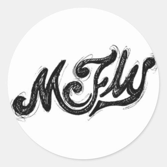 Adesivo Redondo Mcfly Logo
