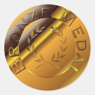 Adesivo Redondo Medalha de bronze