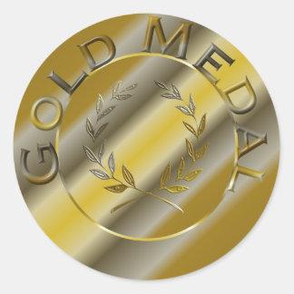 Adesivo Redondo Medalha de ouro