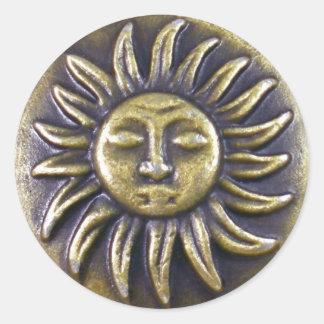 Adesivo Redondo Medalhão de Sun