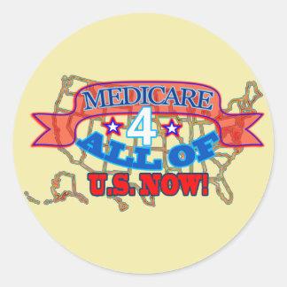 Adesivo Redondo Medicare 4 todos dos E.U. agora!