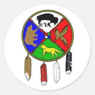 Adesivo Redondo Medicine Wheel - Buffalo White Woman