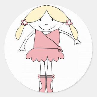 Adesivo Redondo Menina da bailarina