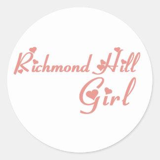 Adesivo Redondo Menina de Richmond