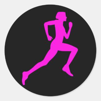 Adesivo Redondo Menina Running