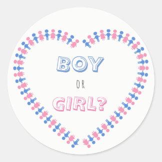 Adesivo Redondo Menino ou menina? O género do bebê cor-de-rosa e