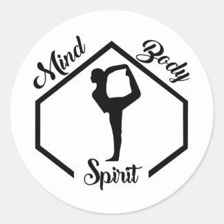 Adesivo Redondo Mente, corpo, e espírito