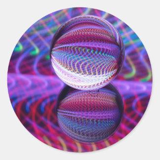 Adesivo Redondo Mentiras na bola de cristal