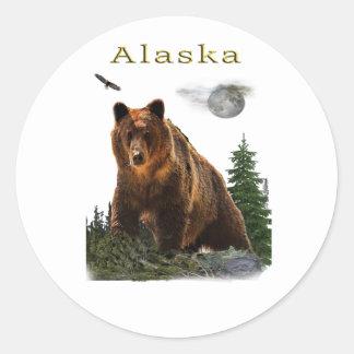 Adesivo Redondo Mercadoria de Alaska