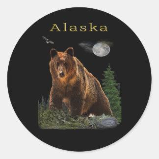 Adesivo Redondo Mercadoria do estado de Alaska