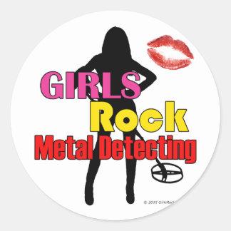 Adesivo Redondo Metal da rocha das meninas que detecta em volta