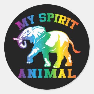 Adesivo Redondo Meu animal do espírito