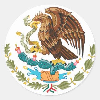 Adesivo Redondo Mexicano Eagle e cobra