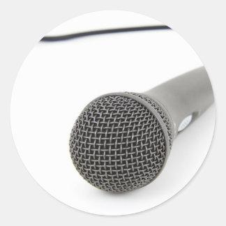 Adesivo Redondo Microfone - conversa a mim