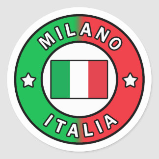 Adesivo Redondo Milão Italia