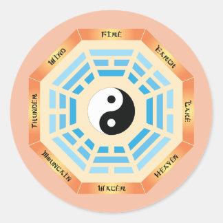Adesivo Redondo Mim Ching Yin Yang