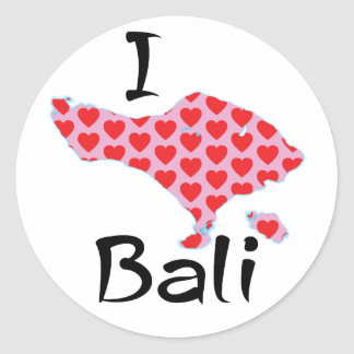 Adesivo Redondo Mim coração Bali