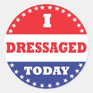 Adesivo Redondo Mim Dressaged hoje