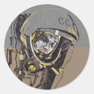 Adesivo Redondo Mini-etiquetas de Yuri Gagarin