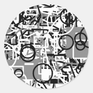Adesivo Redondo modelo abstrato