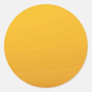 Adesivo Redondo MODELO vazio do ouro: Adicione o texto, imagem,
