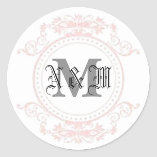 Adesivo Redondo Monograma de N & de M