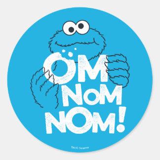 Adesivo Redondo Monstro do biscoito | OM Nom Nom!
