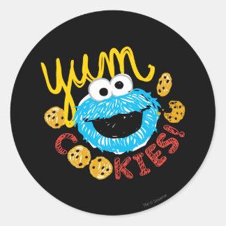 Adesivo Redondo Monstro do biscoito Yum