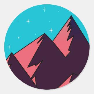Adesivo Redondo Montanha