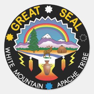 Adesivo Redondo Montanha branca Apache