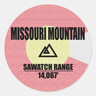 Adesivo Redondo Montanha de Missouri