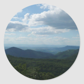 Adesivo Redondo Montanhas apalaches II Shenandoah