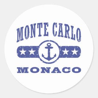 Adesivo Redondo Monte - Carlo Monaco