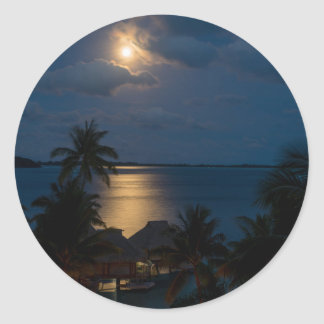 Adesivo Redondo Moon on bora bora