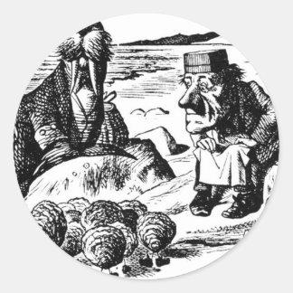 Adesivo Redondo Morsa, Carpeter e ostras